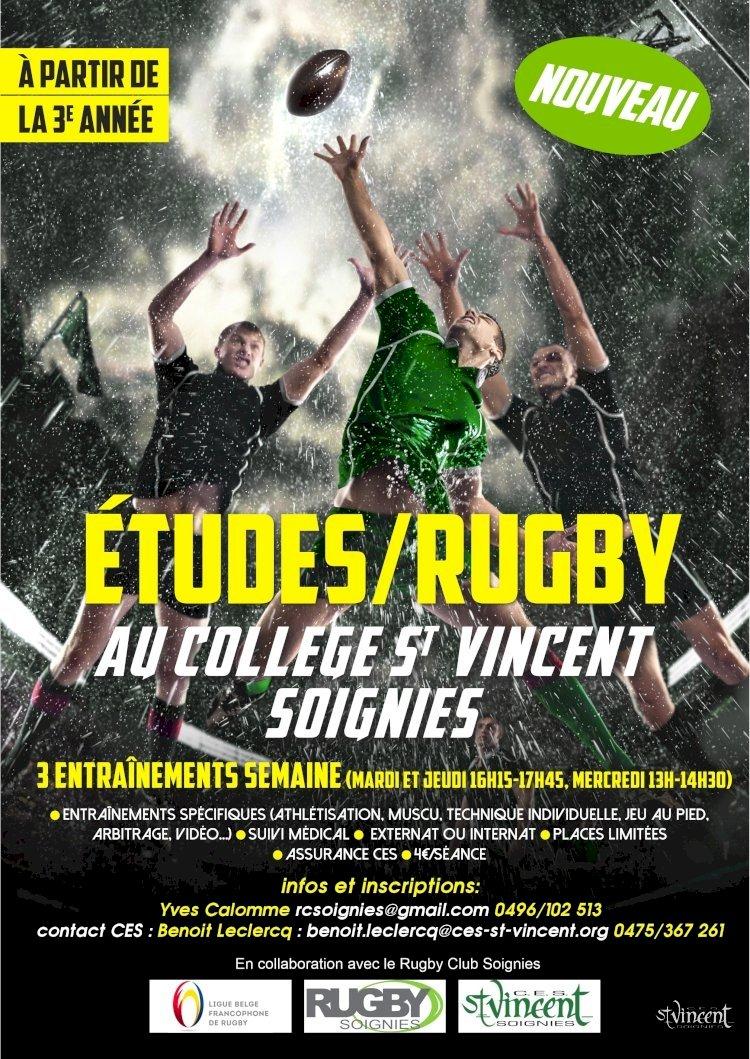 Du rugby et des études ? C'est possible à Soignies !