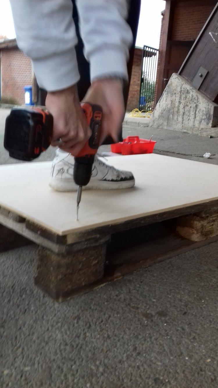 Construction d'une structure pour skateboard