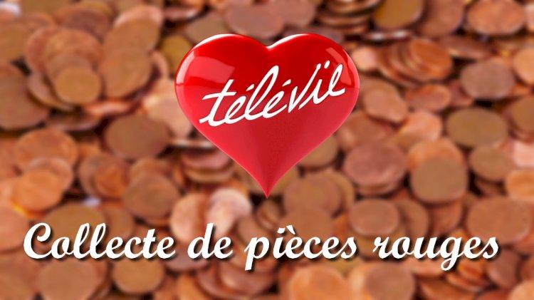 Collecte de pièces rouges pour le Télévie