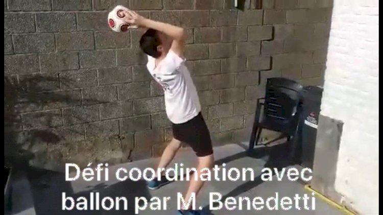 Défis Coordination : Vendredi 1er mai Défi avec ballon par M. Benedetti
